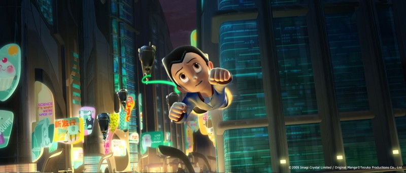 Un'immagine del film d'animazione Astro Boy