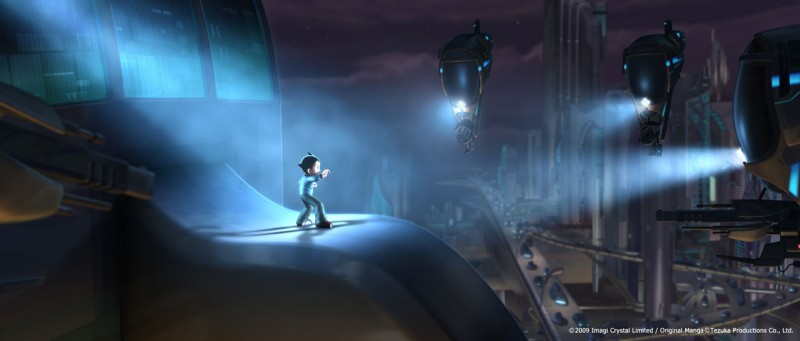 Un'immagine tratta dall'atteso film d'animazione Astro Boy, diretto da David Bowers