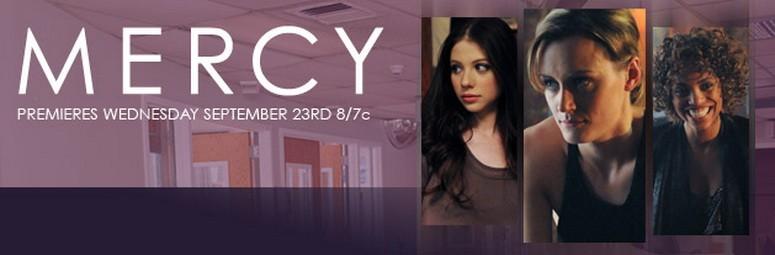 Un poster con sviluppo orizzontale della serie Mercy