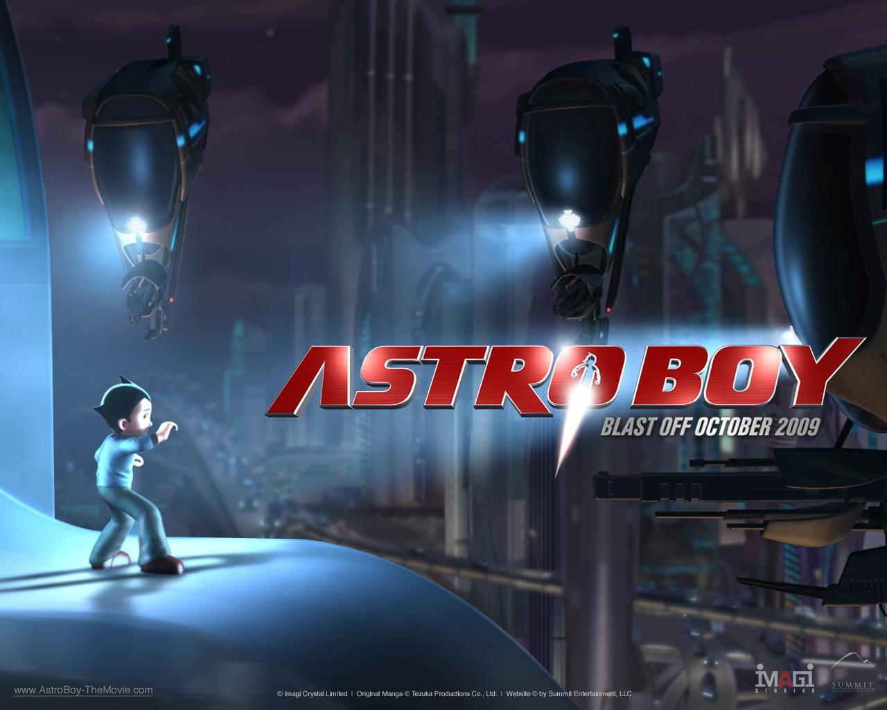 Un wallpaper del film Astro Boy