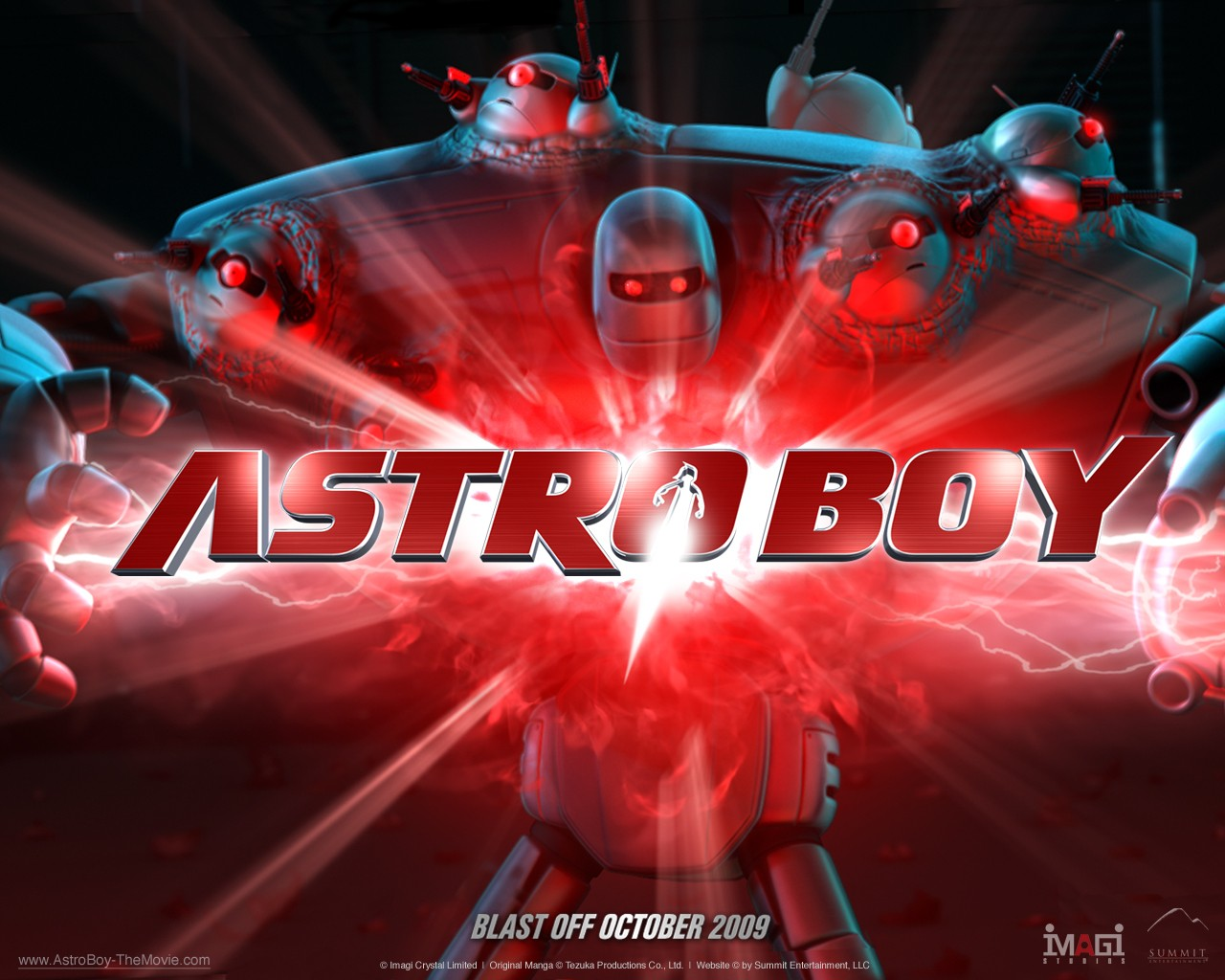 Un wallpaper del film d'animazione Astro Boy