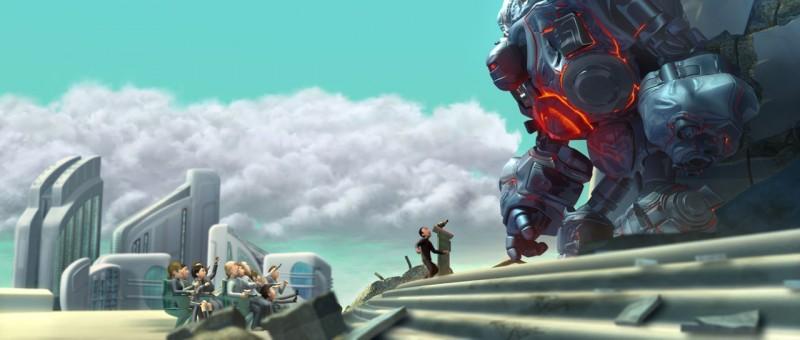 Una scena del film d'animazione Astro Boy