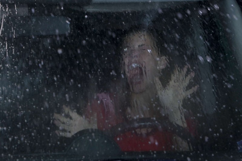 Haley Webb in una scena del film The Final Destination