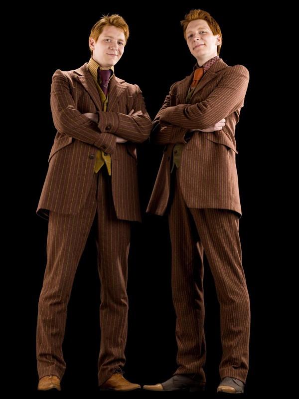 I gemelli James e Oliver Phelps (George e Fred Weasley) per il film di 'Harry Potter e il principe mezzosangue'
