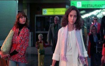 Jessica Harper in una sequenza del film Suspiria, del \'77