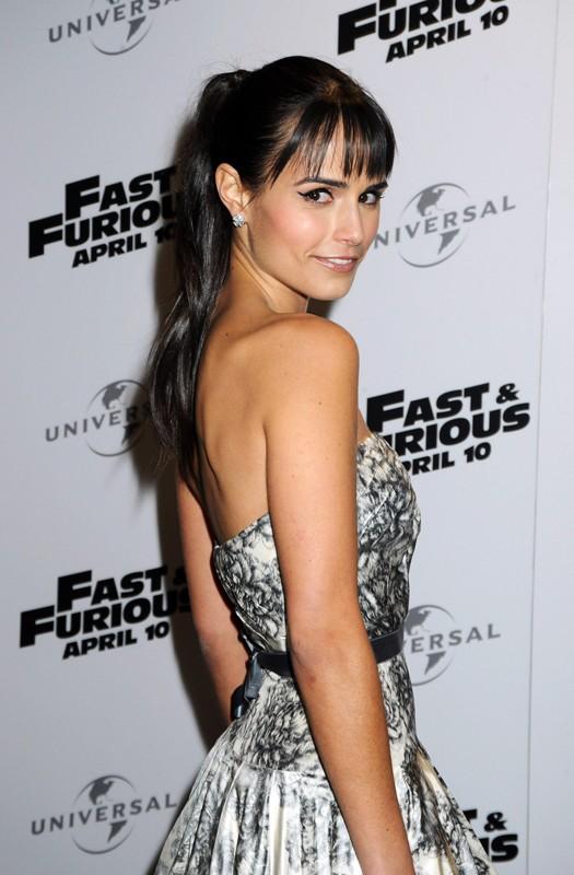 Jordana Brewster alla premiere del film 'Fast and Furious - Solo parti originali', in Inghilterra, nel 2009