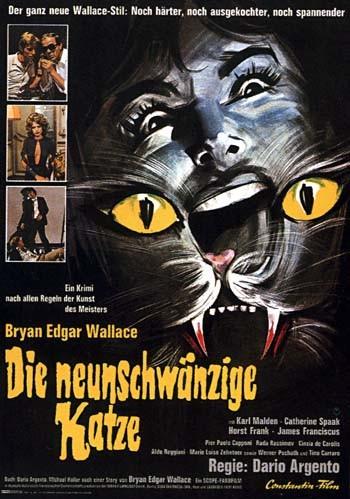 La locandina tedesca del film Il gatto a nove code ( 1971 )