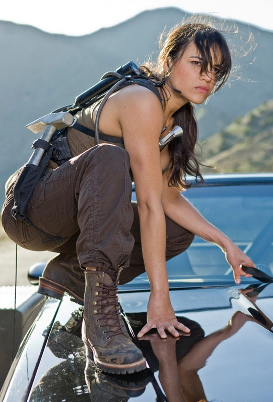 Michelle Rodriguez è Letty in una scena del film Fast and Furious - Solo parti originali
