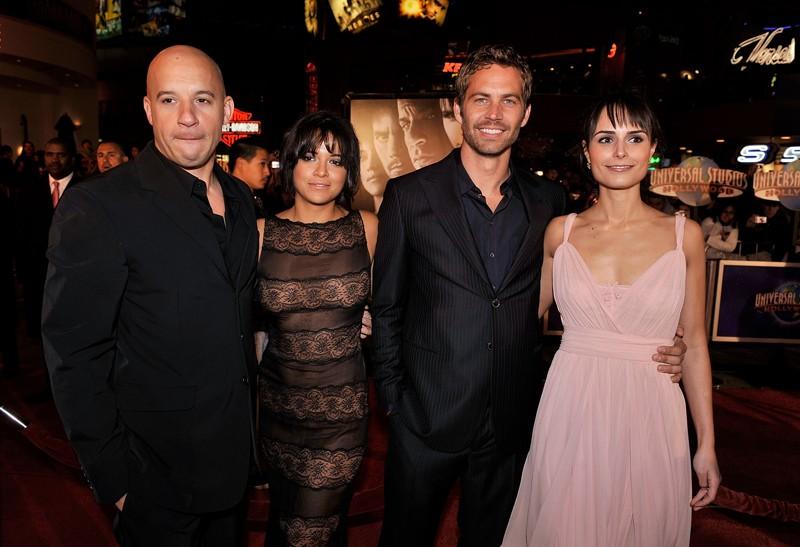 Vin Diesel, Michelle Rodriguez, Paul Walker e Jordana Brewster alla premiere del film 'Fast and Furious - Solo parti originali' negli Universal Studios, Universal City, CA