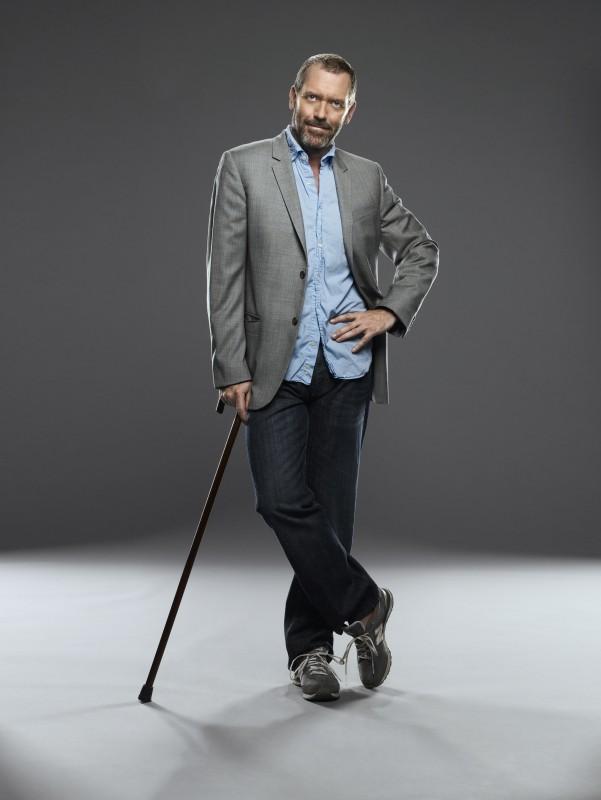 Hugh Laurie in una foto promozionale della stagione 6 di Dr House