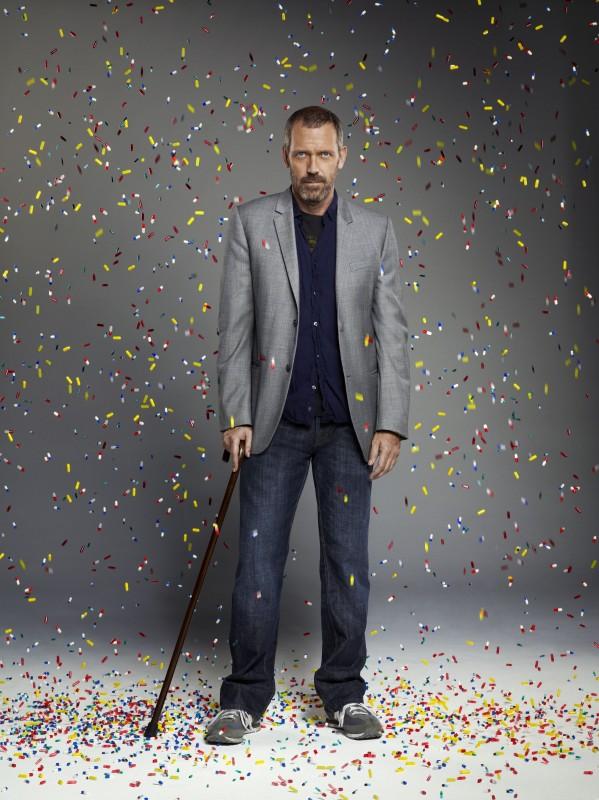 Hugh Laurie in una immagine promozionale della stagione 6 di Dr House