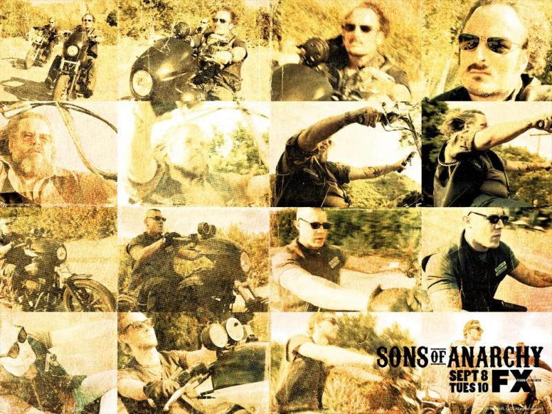 Immagine promo per la seconda stagione di Sons of Anarchy