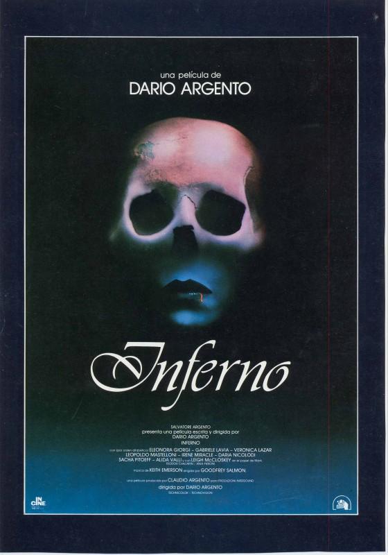 La locandina spagnola del film Inferno (1981)