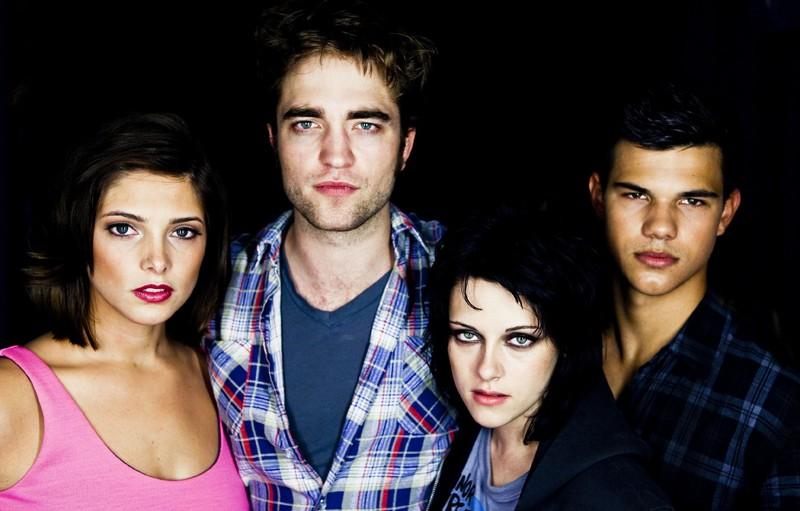 Parte del cast di Twilight Saga: New Moon in una foto promo del Comic-Con di San Diego 2009