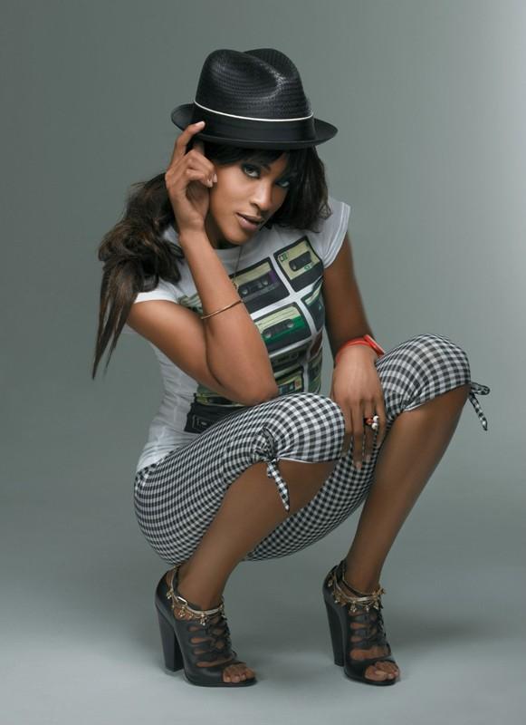 Un'immagine promozionale della modella americana Tyra Banks