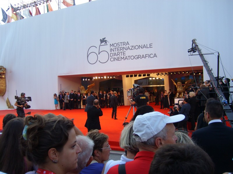 Il pubblico di Venezia aspetta l'arrivo delle star davanti al Palazzo del Cinema