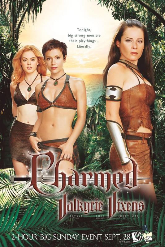 Un poster pubblicitario di gruppo per la sesta stagione della serie Charmed