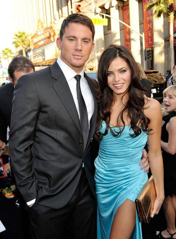 Channing Tatum e la fidanzata Jenna Dewan a Los Angeles, alla premiere del film G.I. Joe The Rise of Cobra, l'8 Giugno 2009