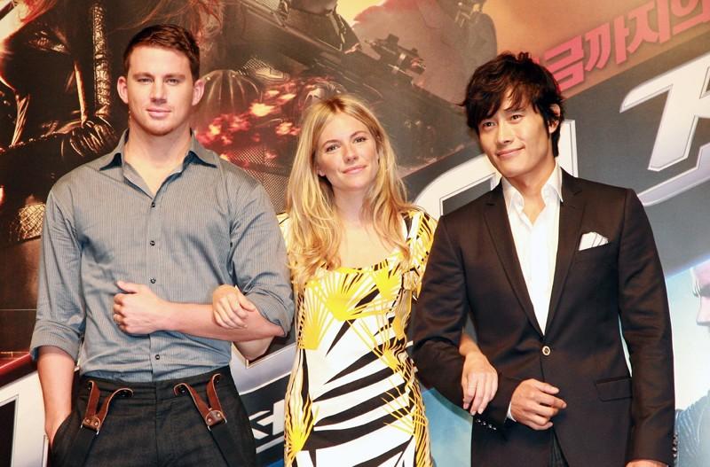Channing Tatum, Sienna Miller e Lee Byung-hun alla premiere del film G.I. Joe The Rise Of Cobra, a Seoul, South Korea - 29 Luglio 2009