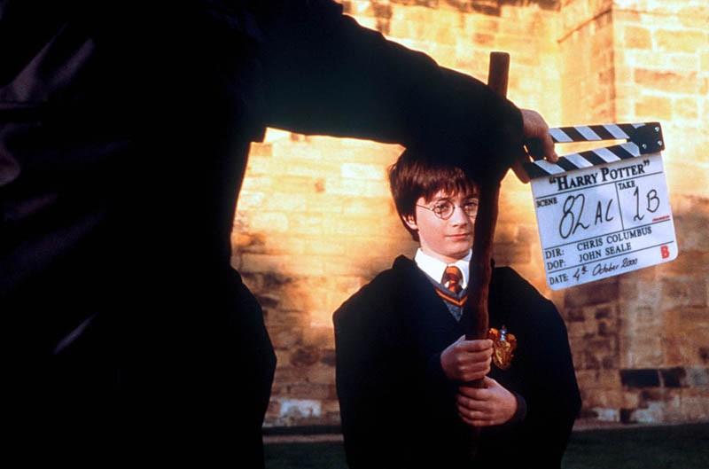 Daniel Radcliffe sul set del film Harry Potter e la Pietra Filosofale