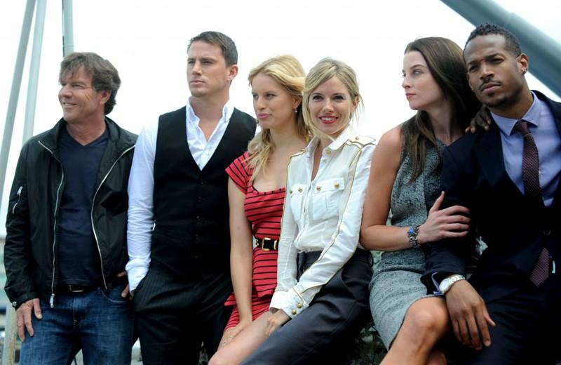 Dennis Quaid, Channing Tatum, Karolina Kurkova, Sienna Miller, Rachel Nichols e Marlon Wayans alla premiere londinese del film G.I. Joe: The Rise of Cobra