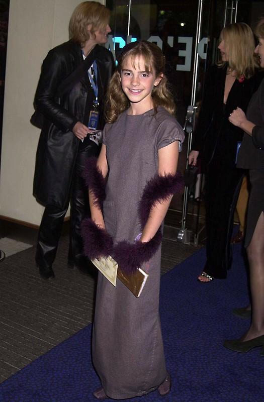 Emma Watson alla premiere londinese del film Harry Potter e la Pietra Filosofale