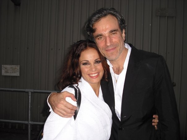 Jennifer Iacono sul set di Nine con Daniel Day Lewis