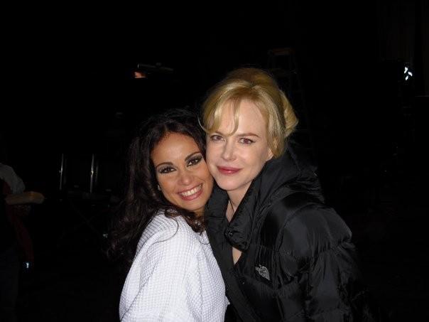Jennifer Iacono sul set di Nine con Nicole Kidman