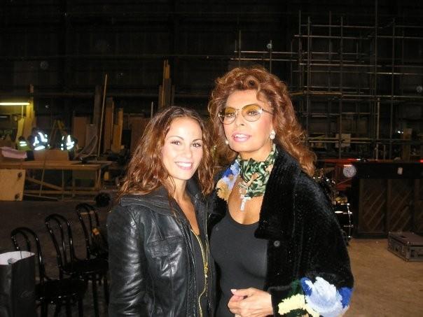 Jennifer Iacono sul set di Nine con Sophia Loren