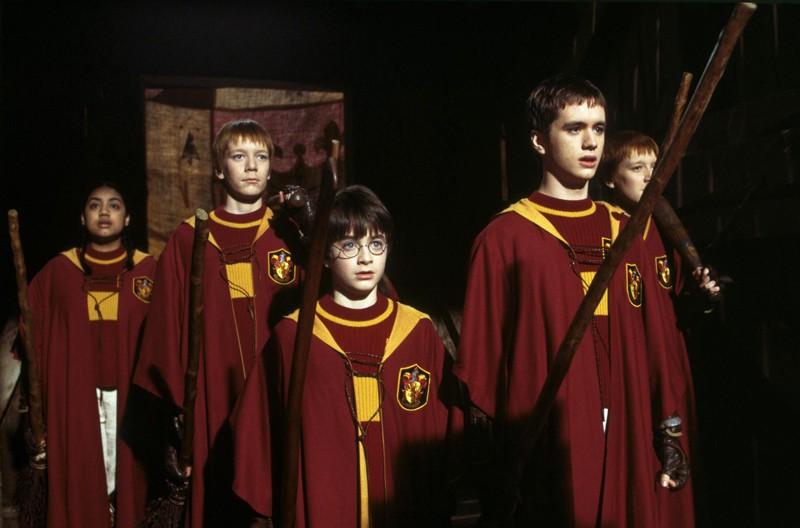 La squadra di quidditch del Grifondoro nel film Harry Potter e la pietra filosofale