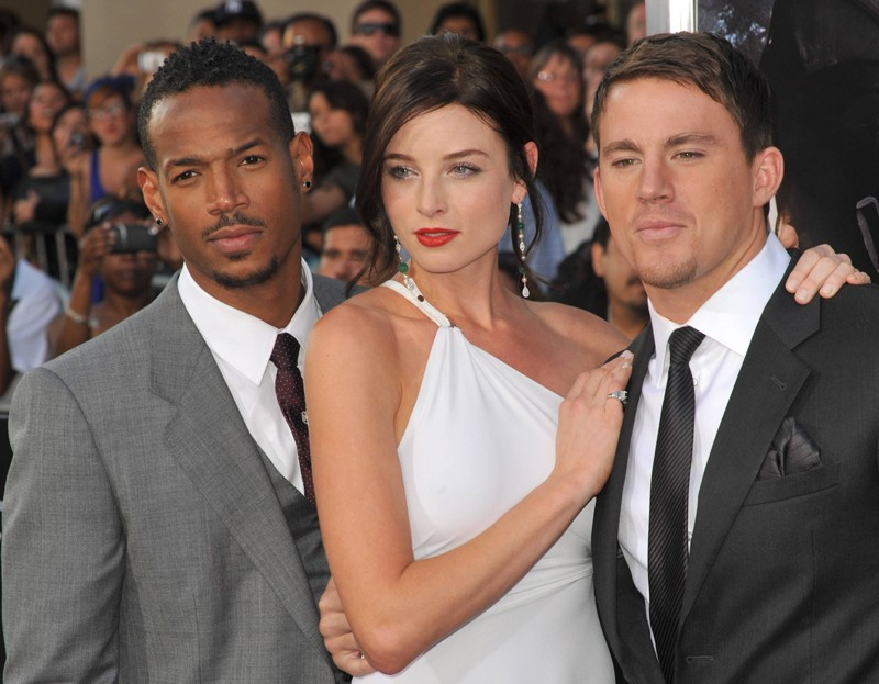 Marlon Wayans, Rachel Nichols e Channing Tatum alla premiere del film G.I. Joe: The Rise of Cobra, a Los Angeles