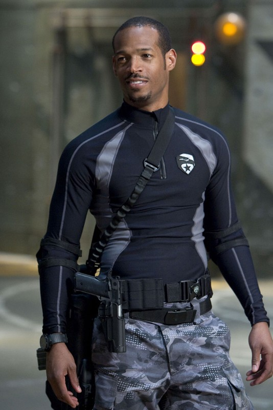 Marlon Wayans (Ripcord) in una scena del film G.I. Joe: Rise of Cobra