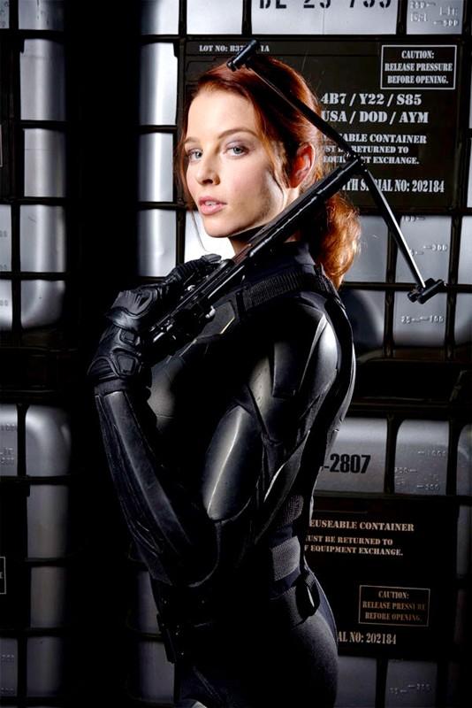 Rachel Nichols è Scarlett in un'immagine promoe del film G.I. Joe