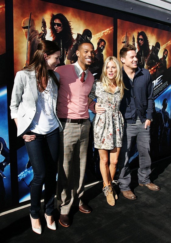 Rachel Nichols, Marlon Wayans, Sienna Miller e Channing Tatum alla press conference del film G.I. Joe: The Rise of Cobra, a Sydney, Australia, il 20 Luglio 2009