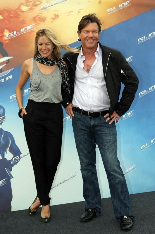 Sienna Miller e Dennis Quaid alla premiere del film G.I. Joe: La nascita dei Cobra, a Berlino, Germania, il 23 Luglio 2009