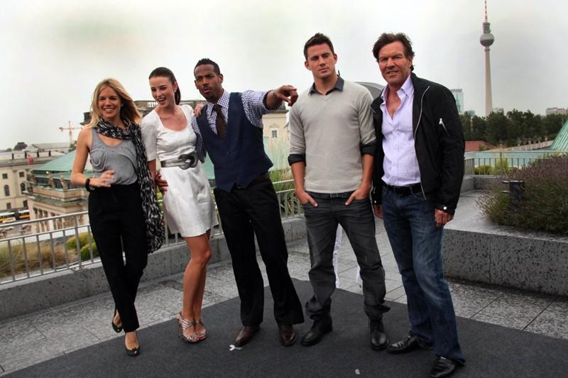 Sienna Miller, Rachel Nichols, Marlon Wayans, Channing Tatum e Dennis Quaid alla premiere del film G.I. Joe: La nascita dei Cobra, a Berlino, Germania, il 23 Luglio 2009