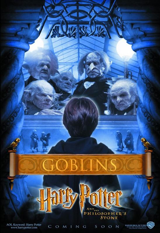 Un character poster dedicato ai Folletti della Gringott per il film Harry Potter e la Pietra Filosofale