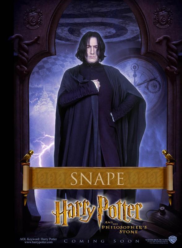 Un character poster dedicato alla Professor Severus Piton per il film Harry Potter e la Pietra Filosofale