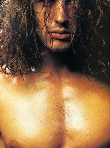 Una immagine di Rossano Rubicondi apparsa sul magazine gay 'Adam'
