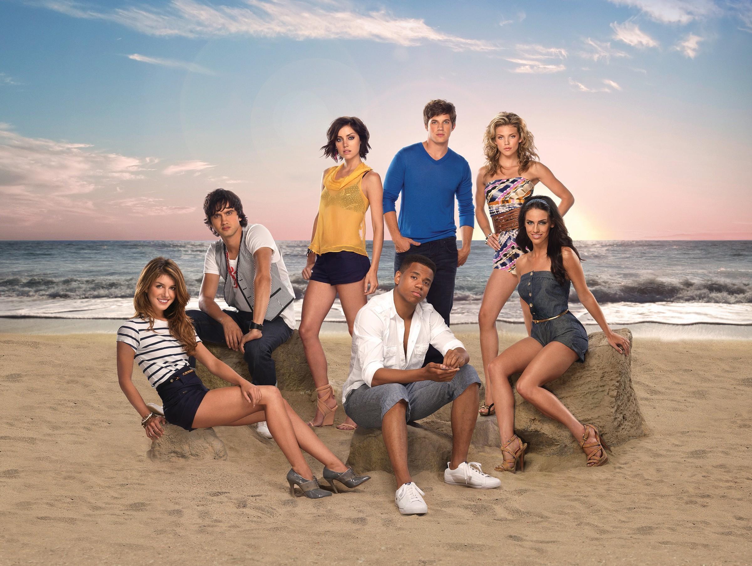 Un wallpaper del cast della stagione 2 di 90210