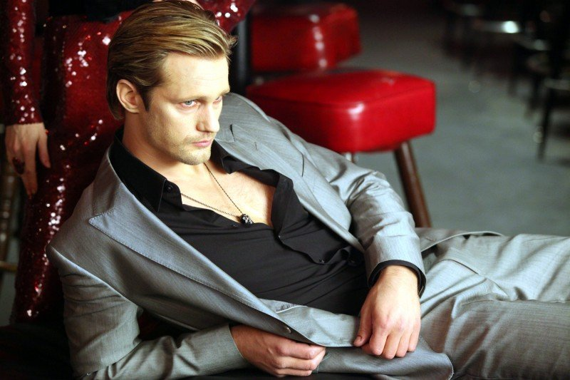 Alexander Skarsgård in una scena dell'episodio Frenzy di True Blood