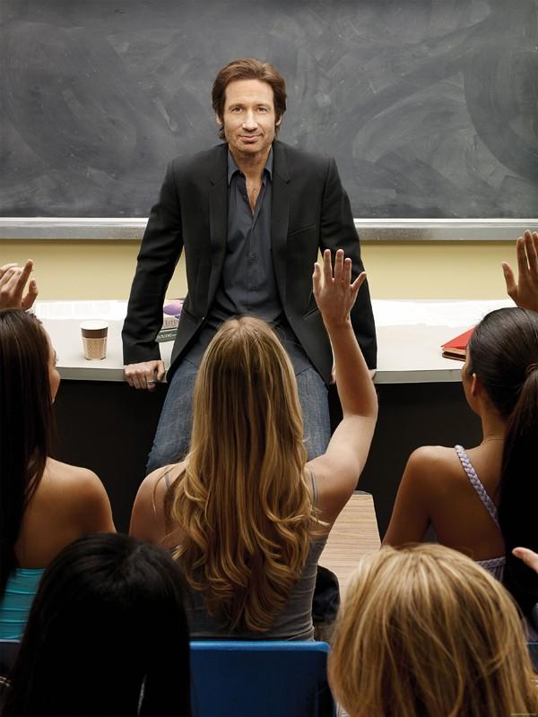 Hank Moody (David Duchovny) a lezione per la season 3 di Californication