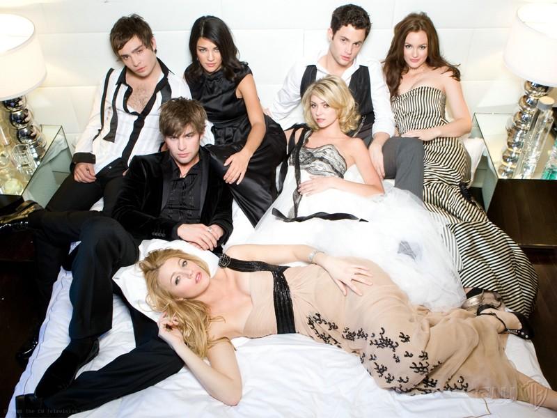 Il cast principale della seconda stagione di Gossip Girl