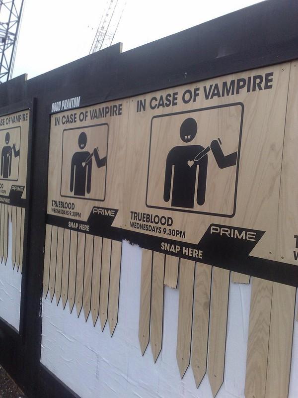 Immagine della campagna pubblicitaria di tipo virale per la serie tv True Blood