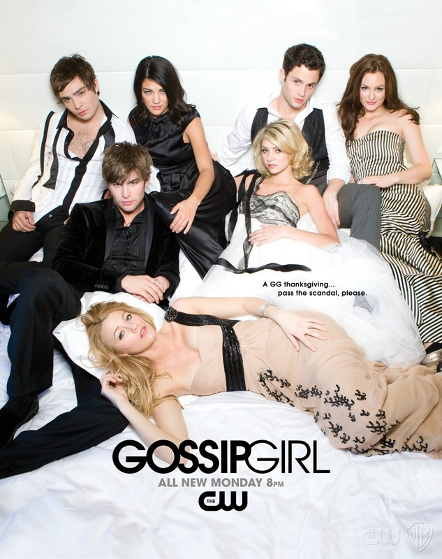 Un manifesto pubblicitario per la seconda stagione di Gossip Girl