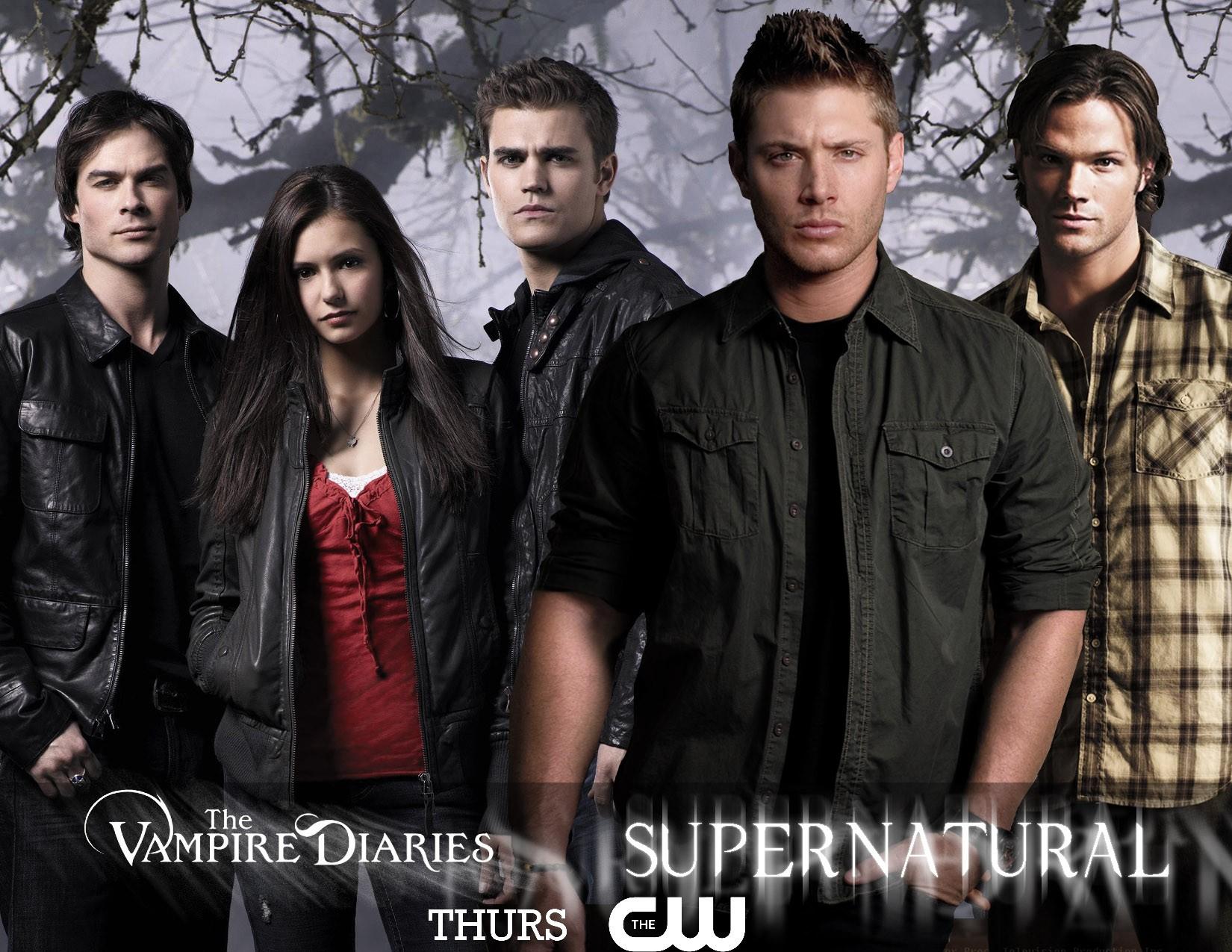 Wallpaper: un manifesto pubblicitario per le serie tv The Vampire Diaries e Supernatural