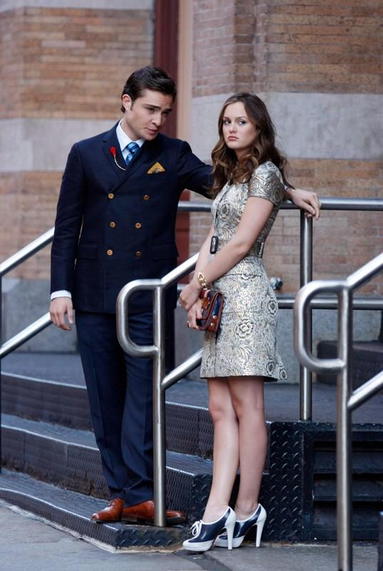 Chuck (Ed Westwick) e Blair (Leighton Meester) nell'episodio Reversals of Fortune di Gossip Girl