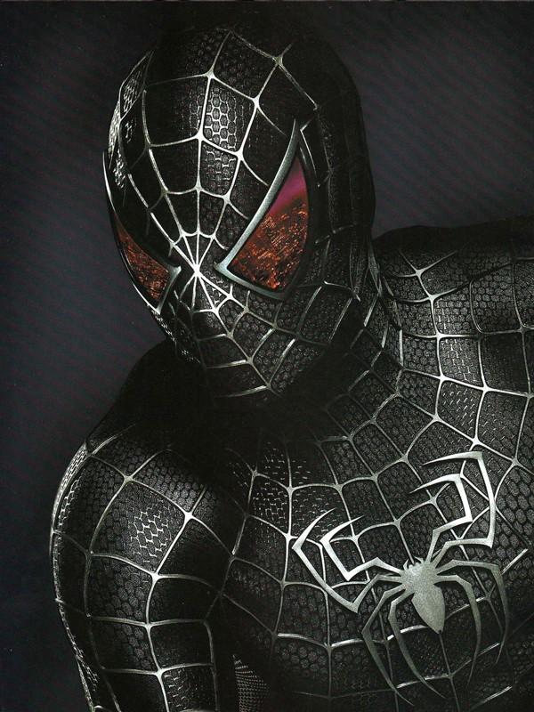 Spider-Man in versione oscura in un'immagine promo del film Spider-Man 3