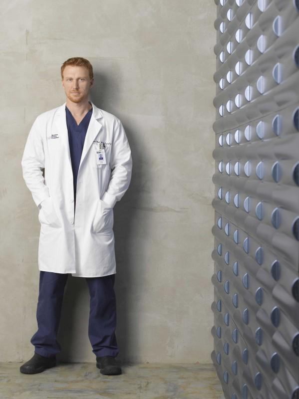 Un'immagine promozionale di Kevin McKidd per la sesta stagione di Grey's Anatomy