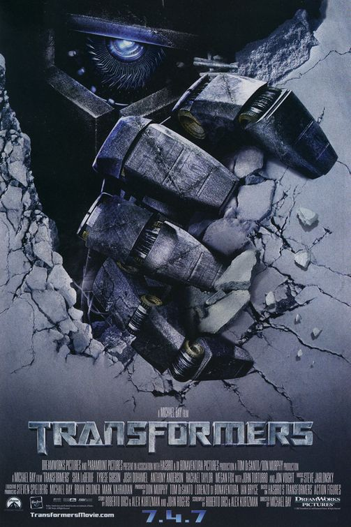 Una locandina del film Transformers